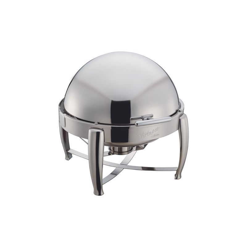 Virtuoso 6qt Round Chafer, Roll-top, S/S, Extra Heavyweight