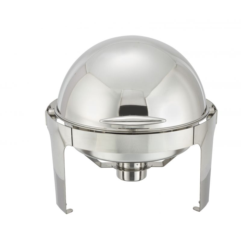 Madison 6qt Round Chafer, Roll-top, S/S, Heavyweight