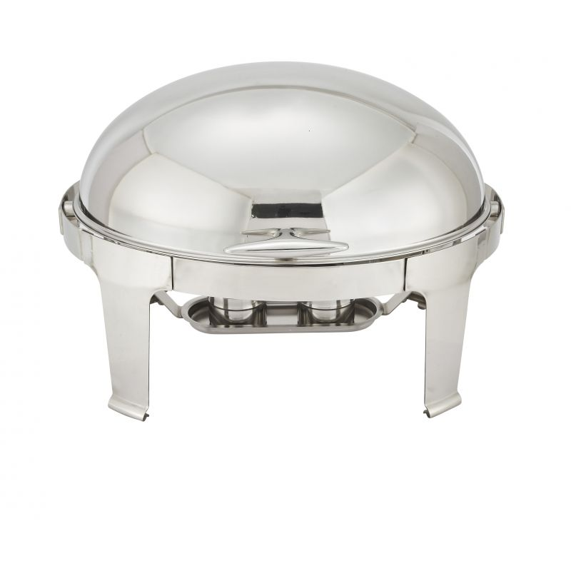 Madison 7qt Oval Chafer, Roll-top, S/S, Heavyweight