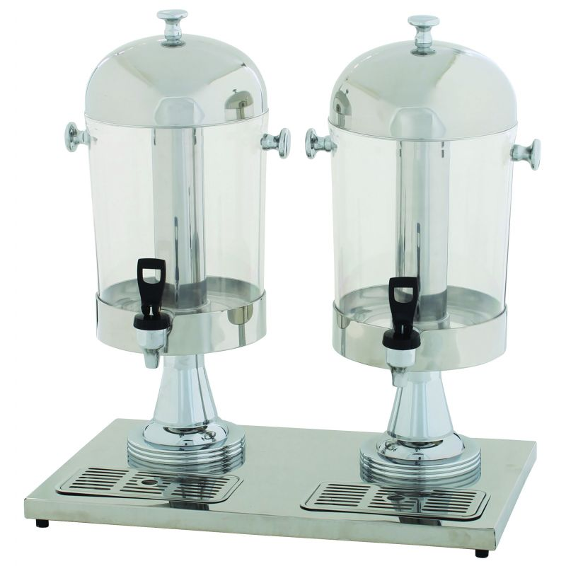 Double Juice Dispenser, 2 x 7-1/2qt