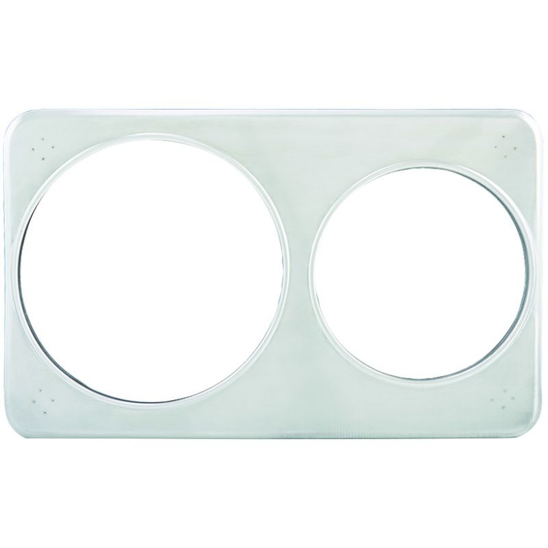 Adaptor Plate, 6-3/8 inches & 8-3/8 inches Holes, S/S