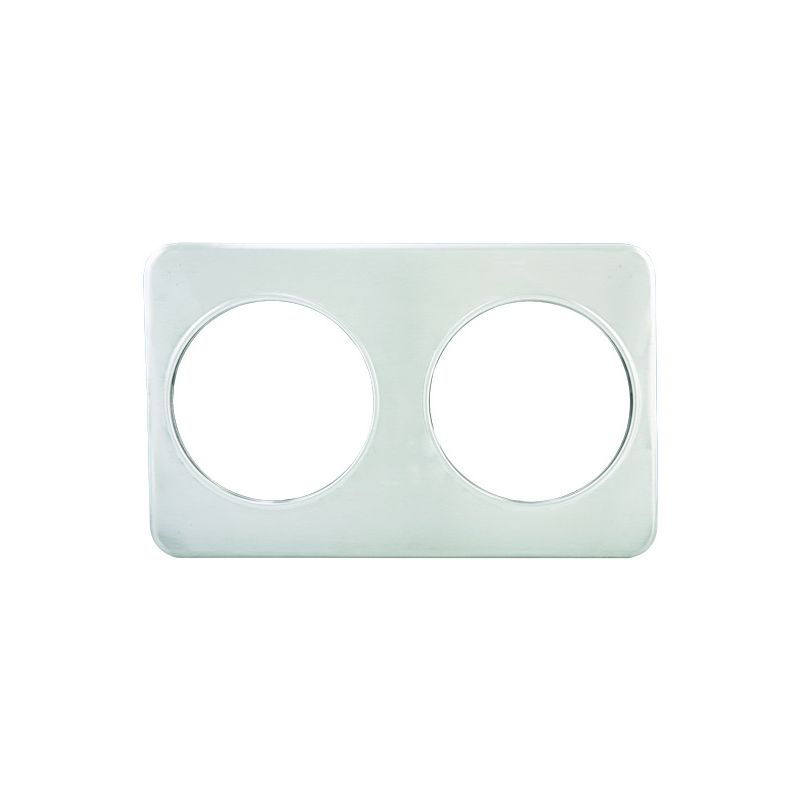 Adaptor Plate, Two 8-3/8 inches Holes, S/S