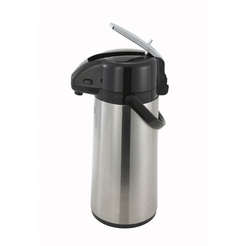 2.2L Glass Lined Airpot w/Lever Top, S/S Body