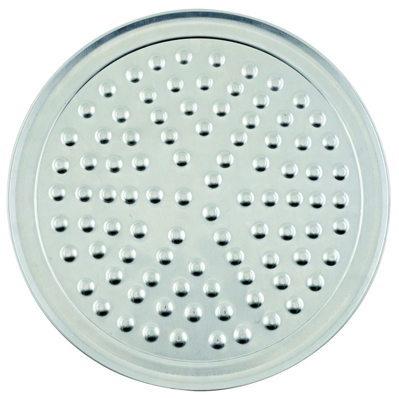 Aluminum Wide Rim Pizza Tray with Nibs, 6 inches