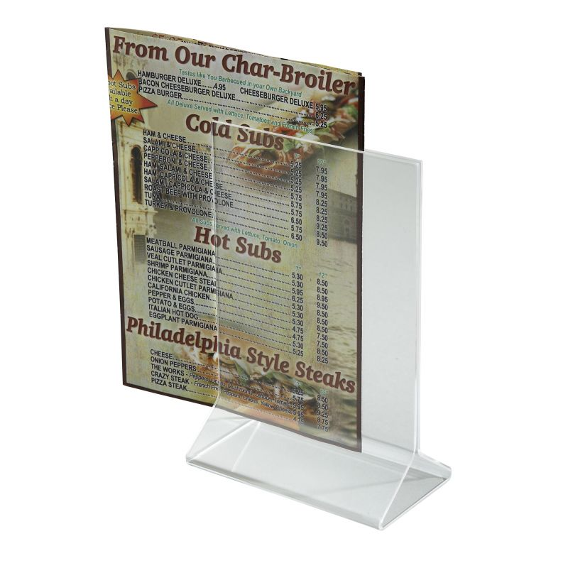 Acrylic Table Sign Holder, 4 inches x 6 inches
