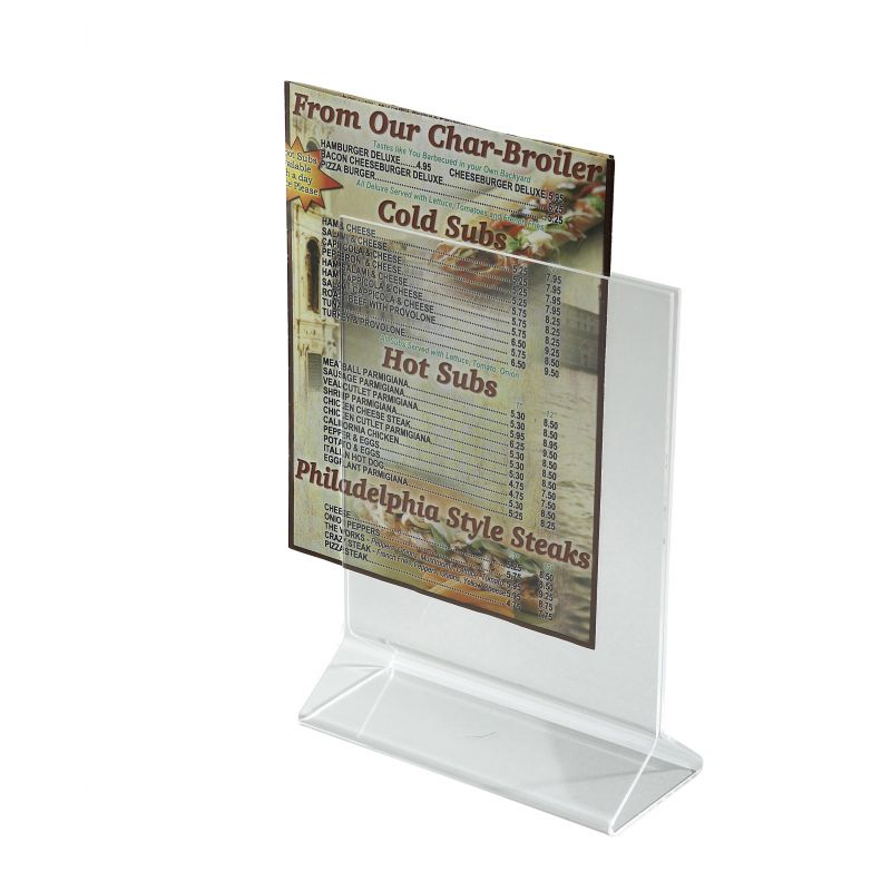 Acrylic Table Sign Holder, 5 inches x 7 inches