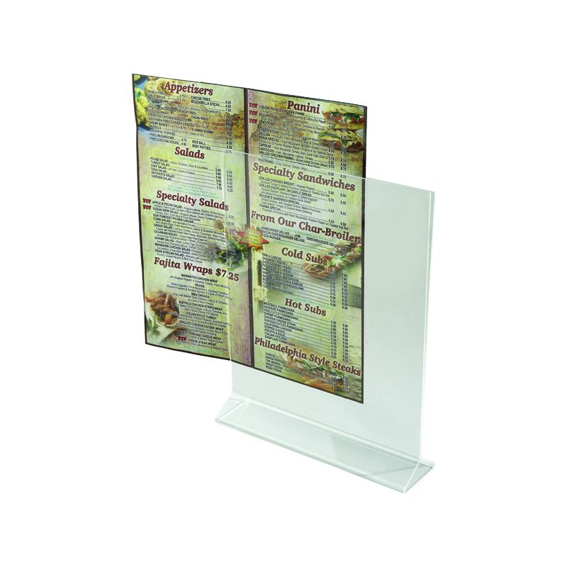 Acrylic Table Sign Holder, 8 inches x 11 inches
