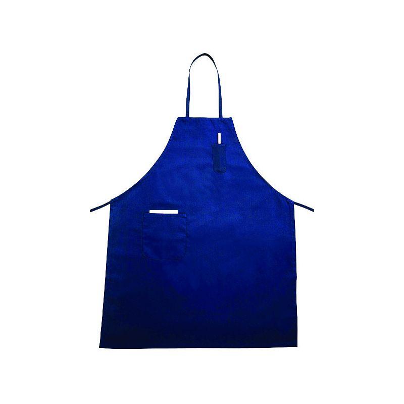 Full Length Bib Apron w/Pocket, Blue