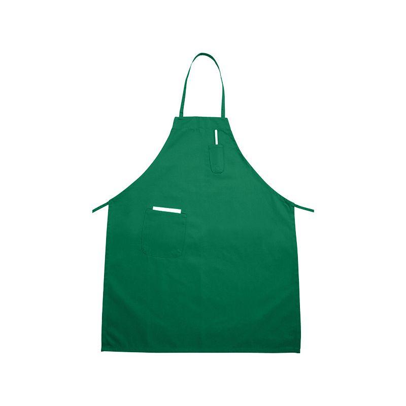 Full Length Bib Apron w/Pocket, Bright Green