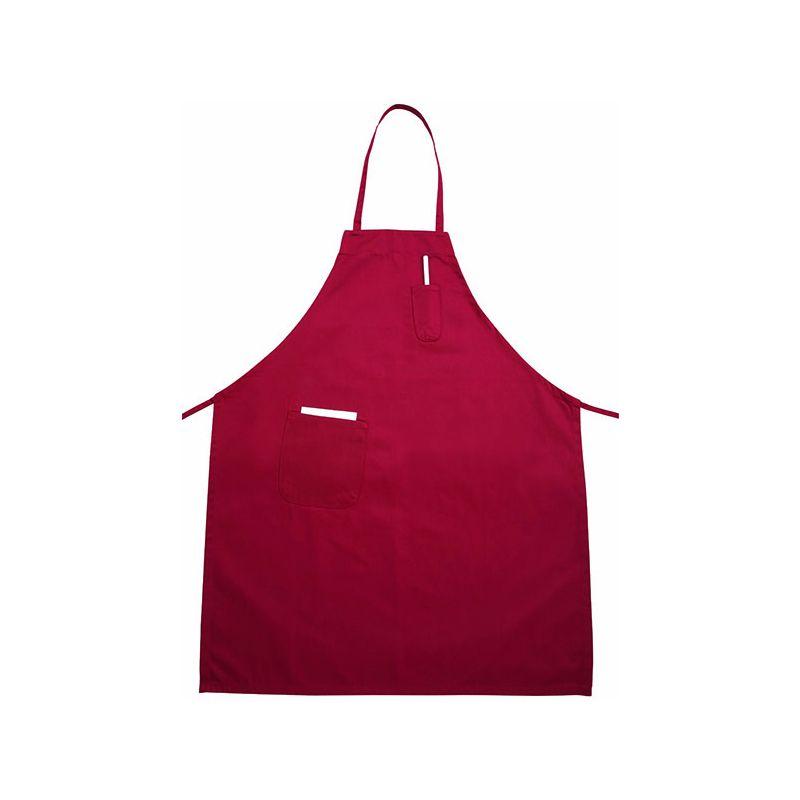 Full Length Bib Apron w/Pocket, Red