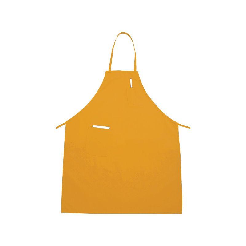 Full Length Bib Apron w/Pocket, Yellow