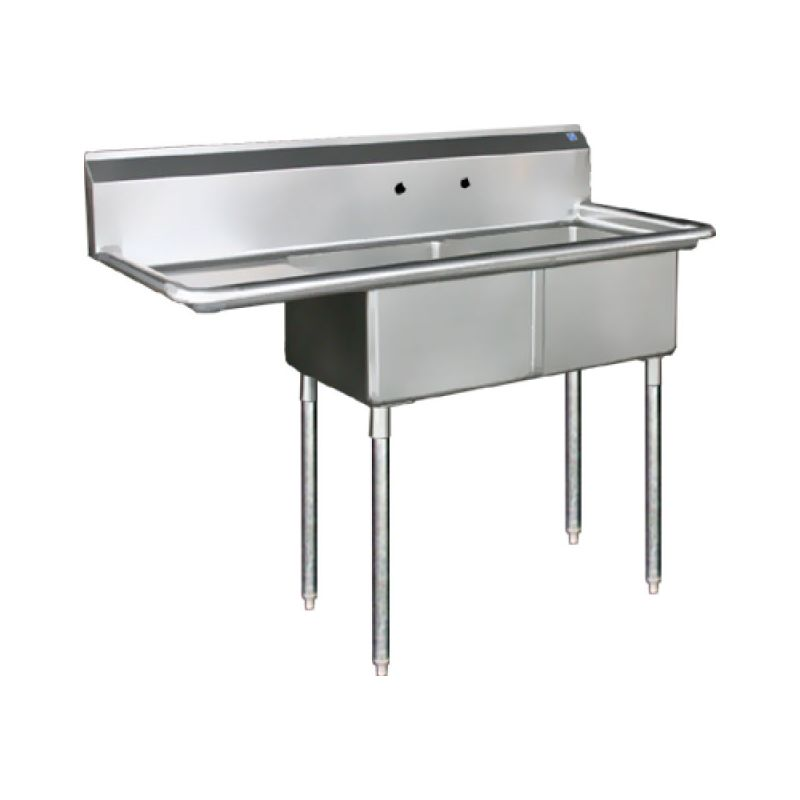 Blue Air Sink - two compartments 18 inches