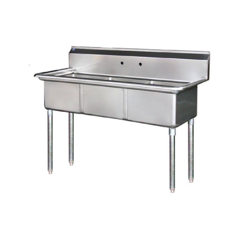 Blue Air Sink - three compartments 18 inches