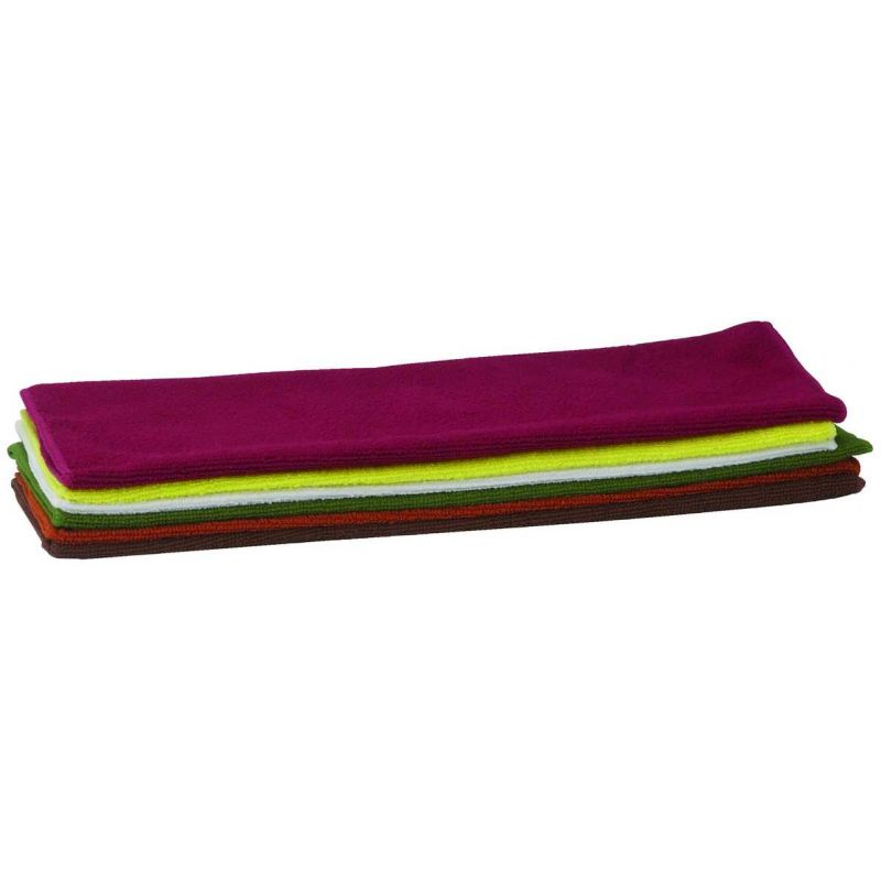 Microfiber Towel, 16 inches x 16 inches, 6pcs/pk, Various Colors