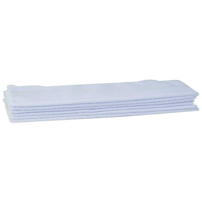 Microfiber Towel, 16 inches x 16 inches, 6pcs/pk, White