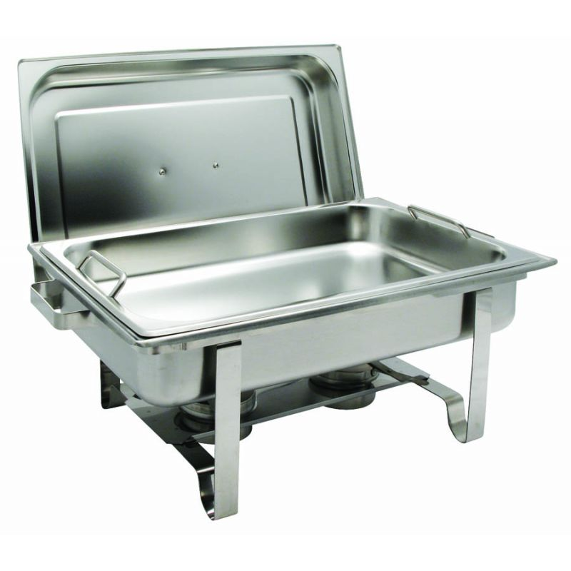 Get-A-Grip 8qt Full-size Chafer, S/S