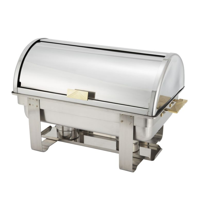 Dallas 8qt Chafer, Roll Top Cover, S/S, Heavyweight