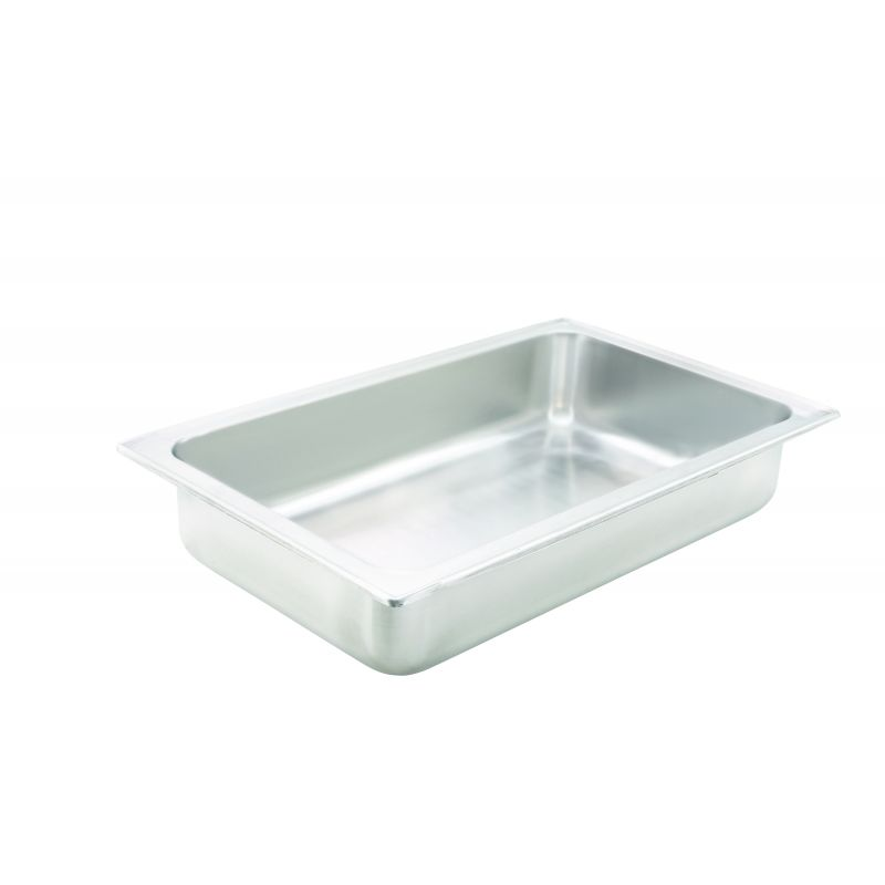 Water Pan, Full-size, 4 inches, Dripless, S/S