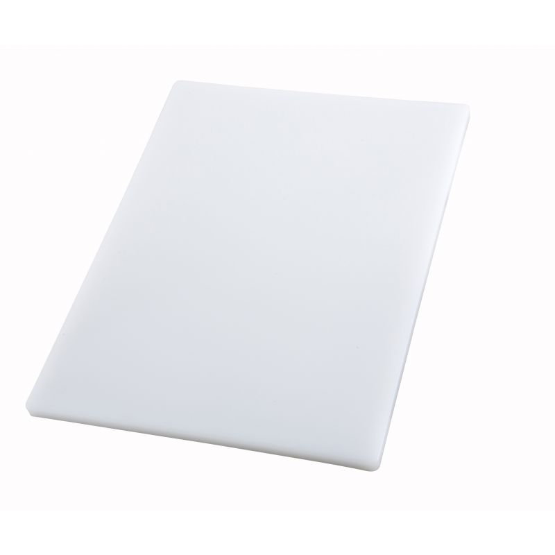 Cutting Board, 12 inches x 18 inches x 3/4 inches, White