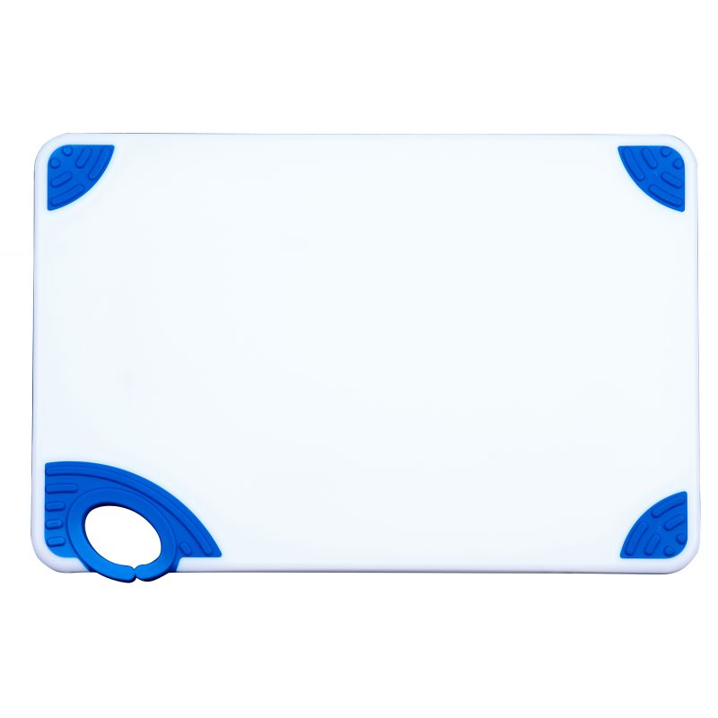 Cutting Board with Hook,12 inchesx18 inchesx1/2 inches,Blue
