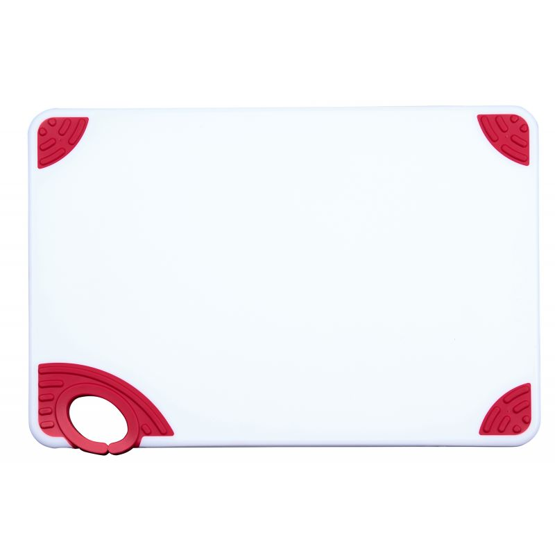 Cutting Board with Hook,12 inchesx18 inchesx1/2 inches,Red
