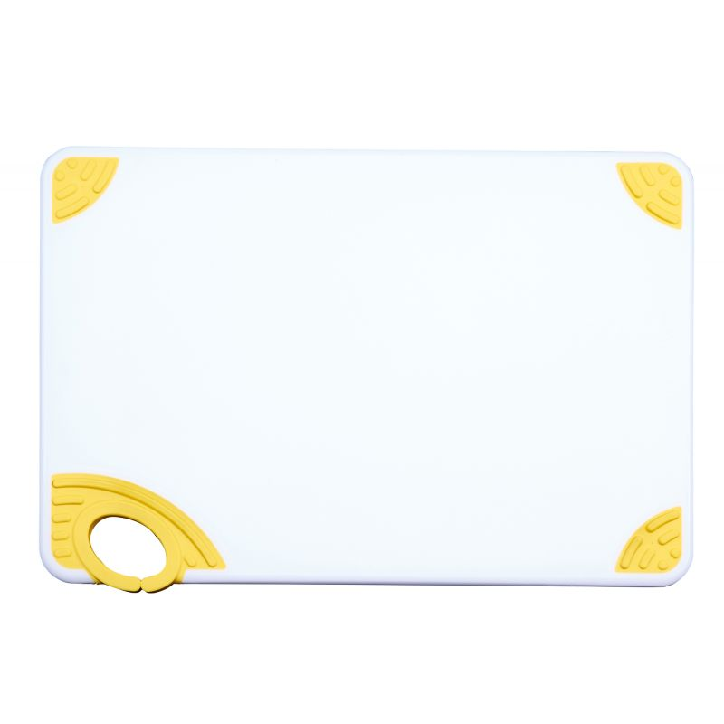 Cutting Board with Hook,12 inchesx18 inchesx1/2 inches,Yellow