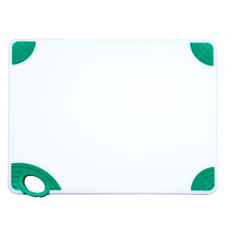 Cutting Board with Hook,12 inchesx18 inchesx1/2 inches,Green
