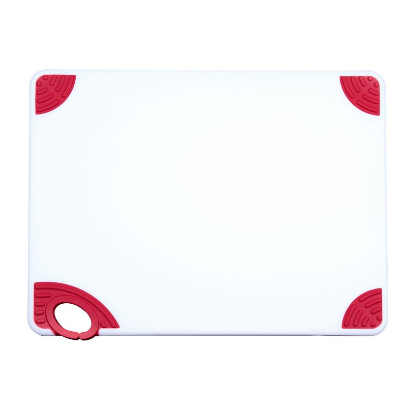 Cutting Board with Hook,15 inchesx20 inchesx1/2 inches,Red