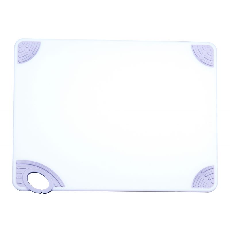 Cutting Board with Hook,12 inchesx18 inchesx1/2 inches,White