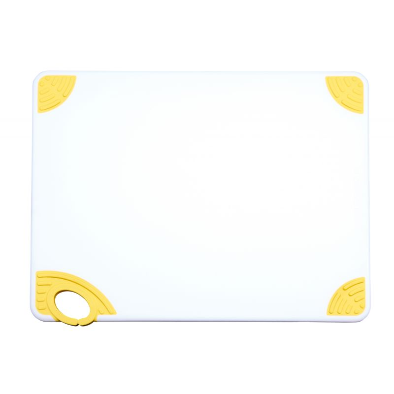 Cutting Board with Hook,15 inchesx20 inchesx1/2 inches,Yellow