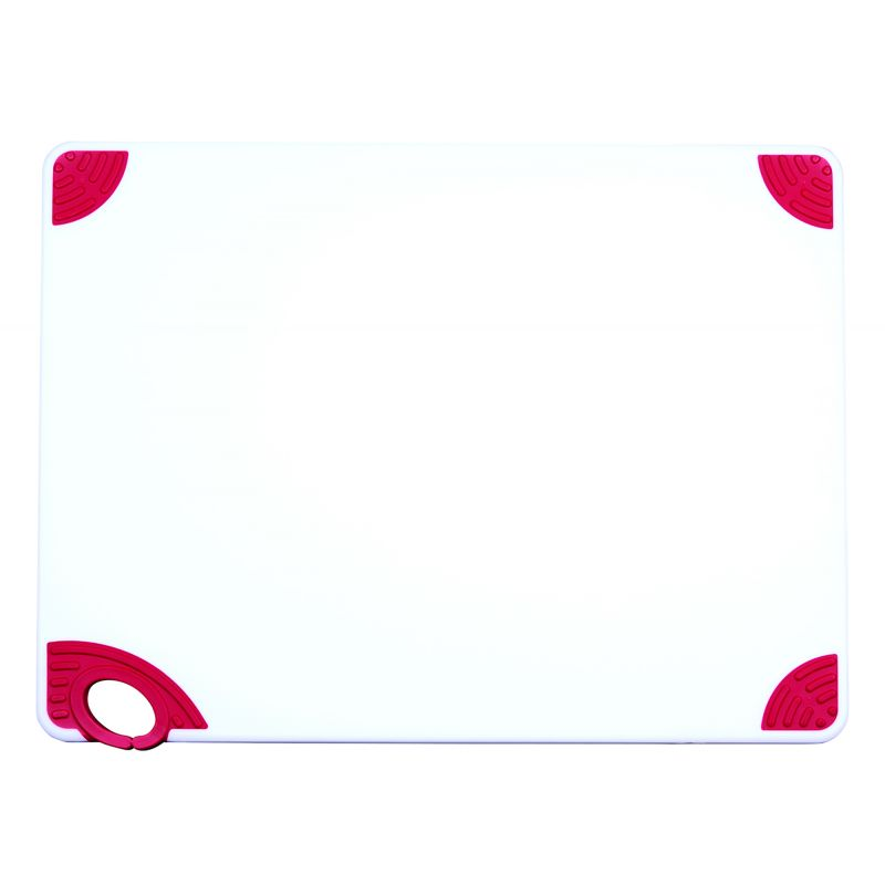 Cutting Board with Hook,18 inchesx24 inchesx1/2 inches,Red