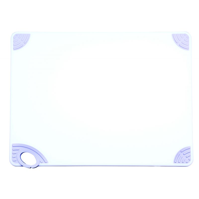 Cutting Board with Hook,18 inchesx24 inchesx1/2 inches,White