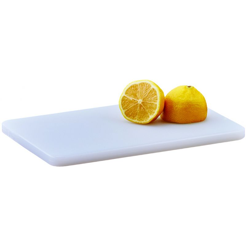 Cutting Board, 6 inches x 10 inches x 1/2 inches, White