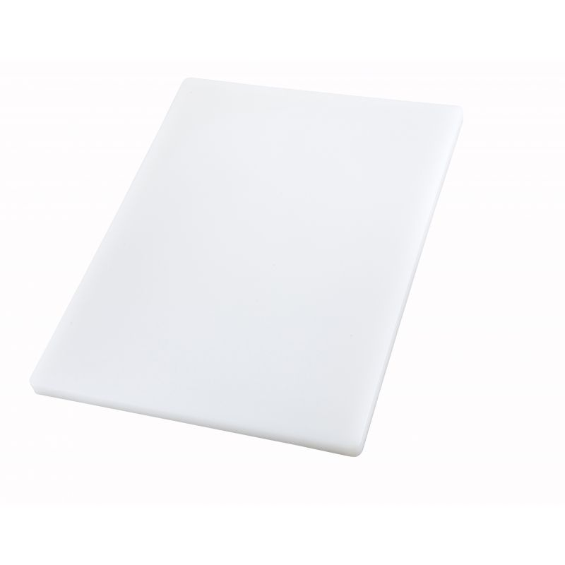 Cutting Board, 12 inches x 18 inches x 1 inches, White