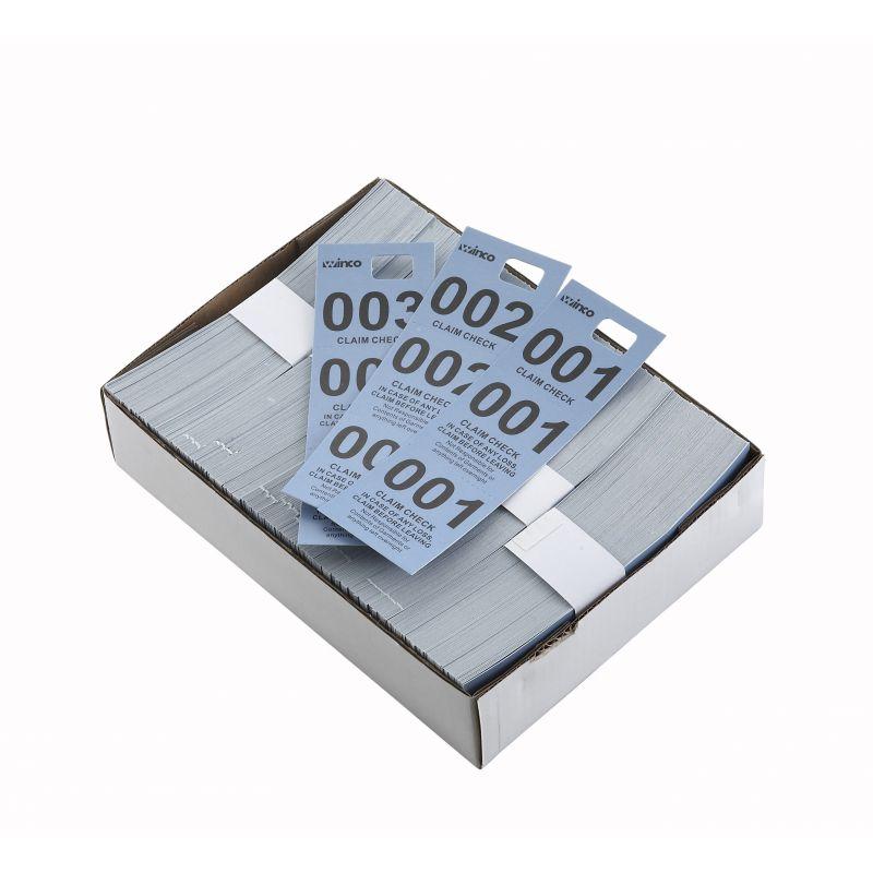 Coat Check Tickets, Blue, 500pcs/box