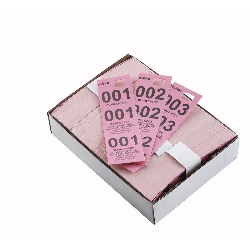Coat Check Tickets, Pink, 500pcs/box