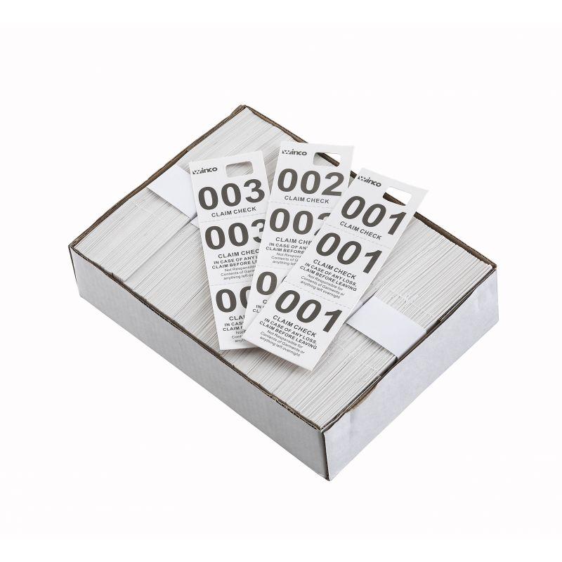 Coat Check Tickets, White, 500pcs/box