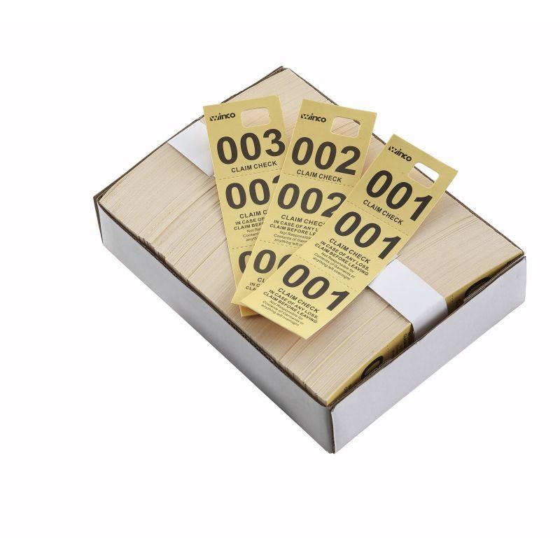 Coat Check Tickets, Yellow, 500pcs/box