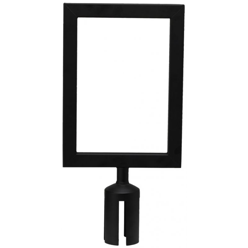 Stanchion Top Sign Frame, Black
