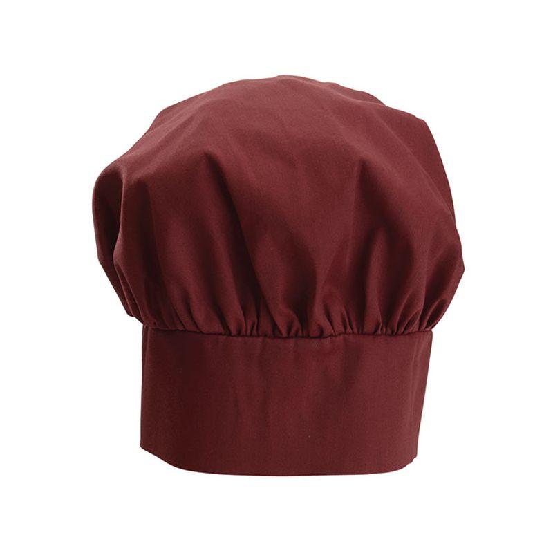 Chef Hat, 13 inches, Velcro Closure, Burgundy