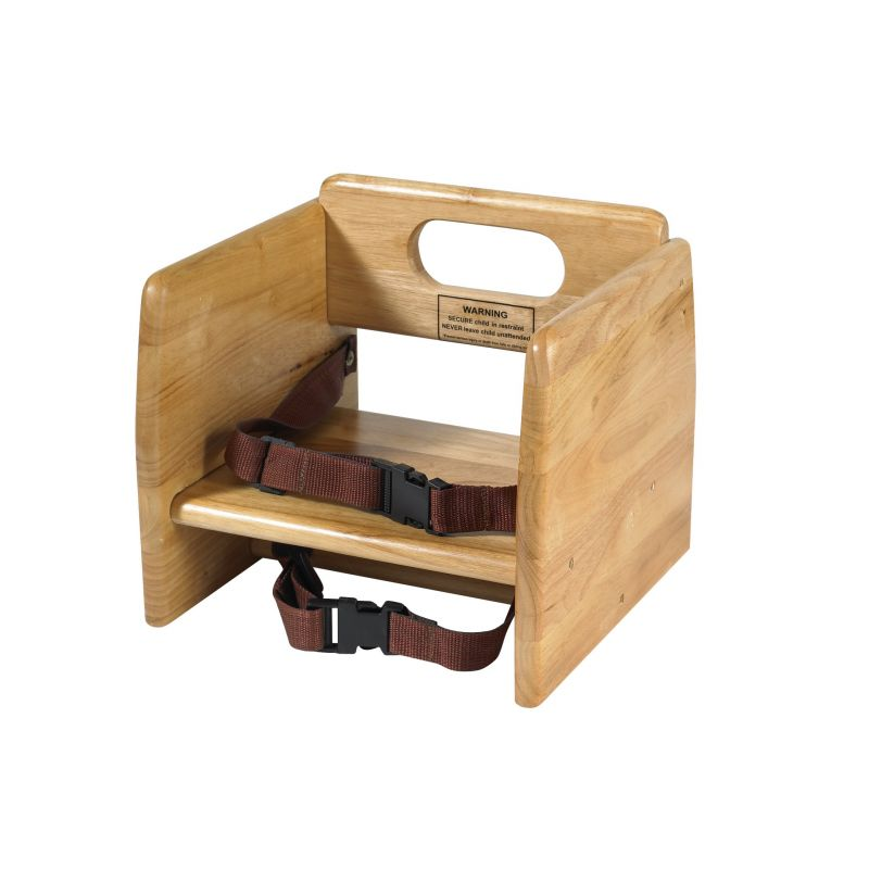 Booster Seat, Wooden, Natural