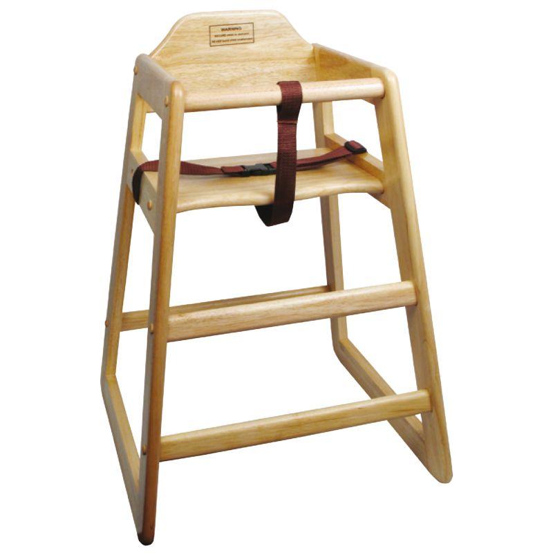 Natural Wood High Chair, KD