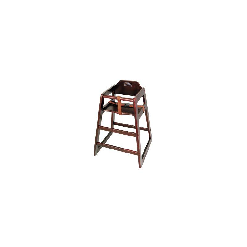Mahogany Wood High Chair, KD