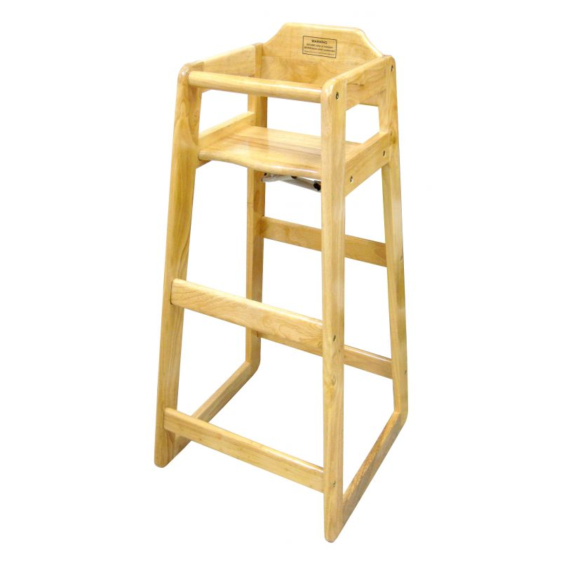 Natural Wood Pub High Chair, Counter Height, KD