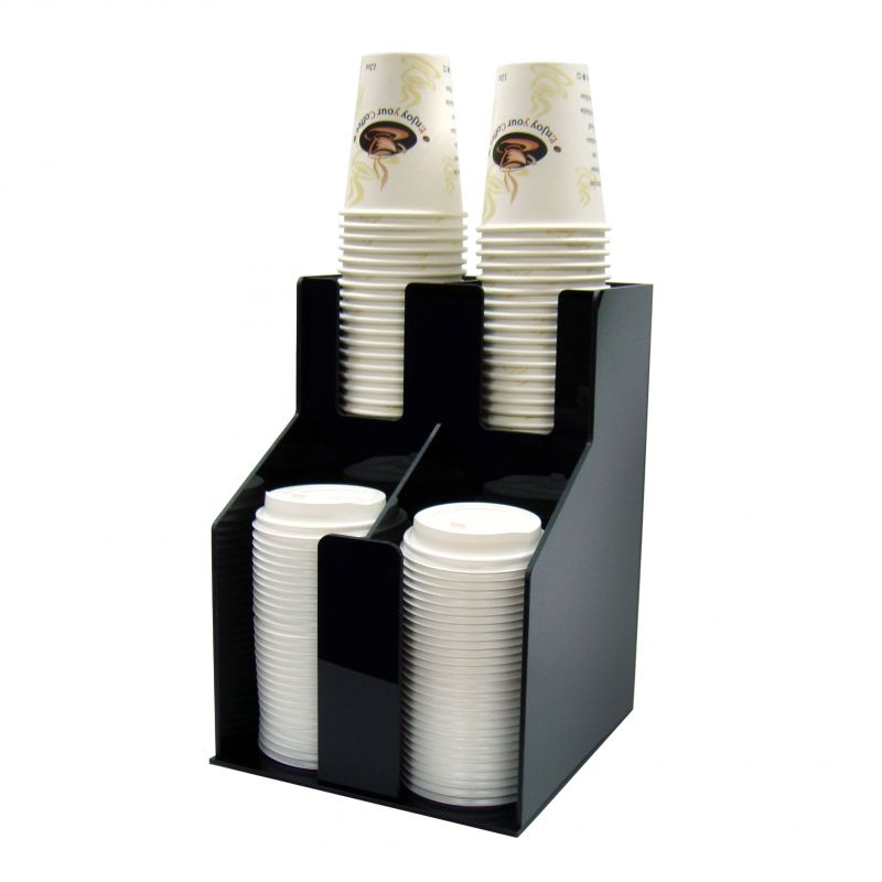 Cup & Lid Organizer, 2 Tiers, 2 Stacks
