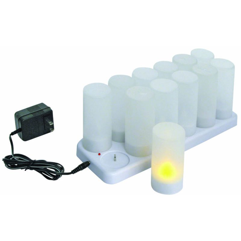 Votive Tealight Set, Rechargeable, 12-piece