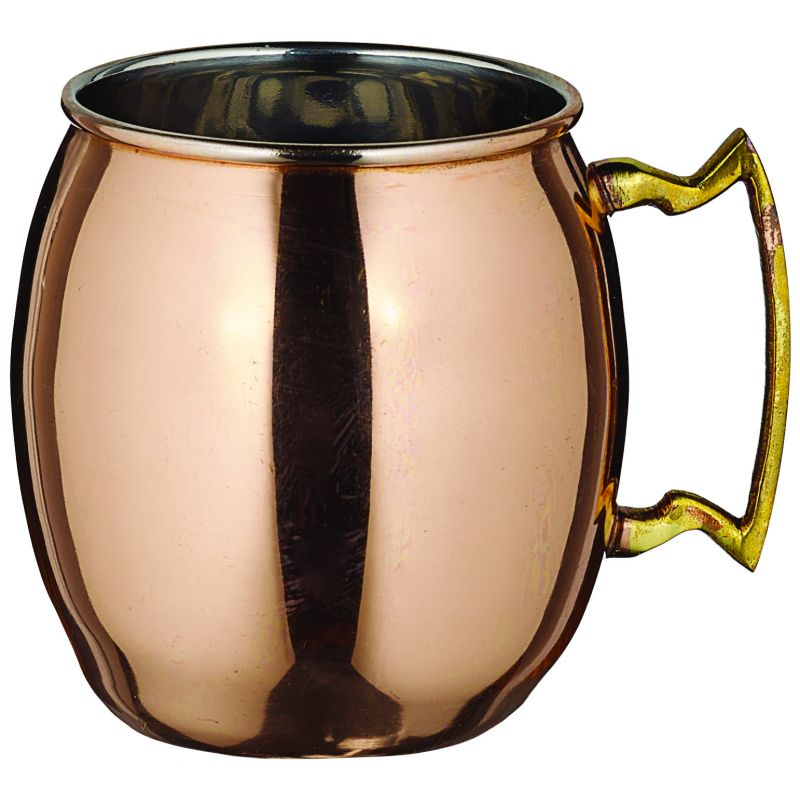 20 oz. Moscow Mule Mug, Solid, Copper-Plated, Brass Handle