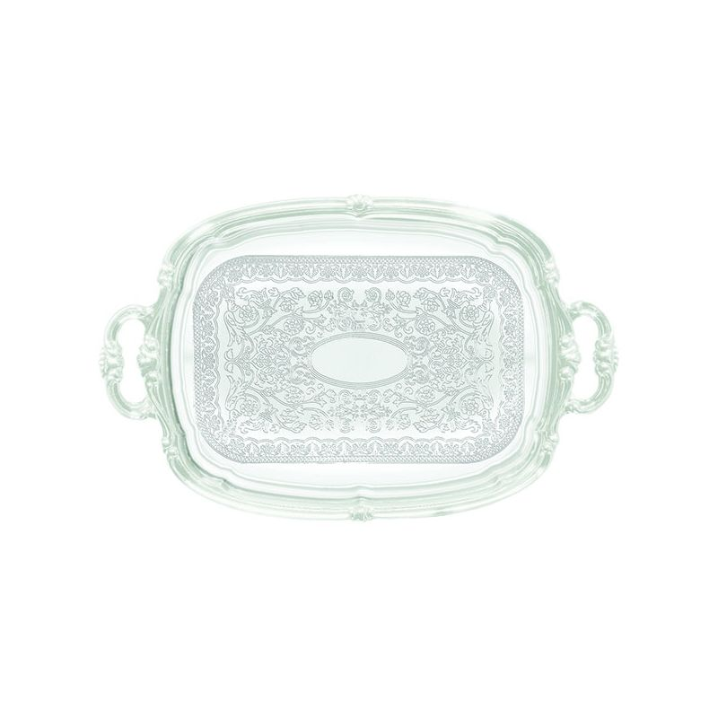 Serving Tray w/Hdls, Oblong, 19 inches x 12 inches, Chrome Plated