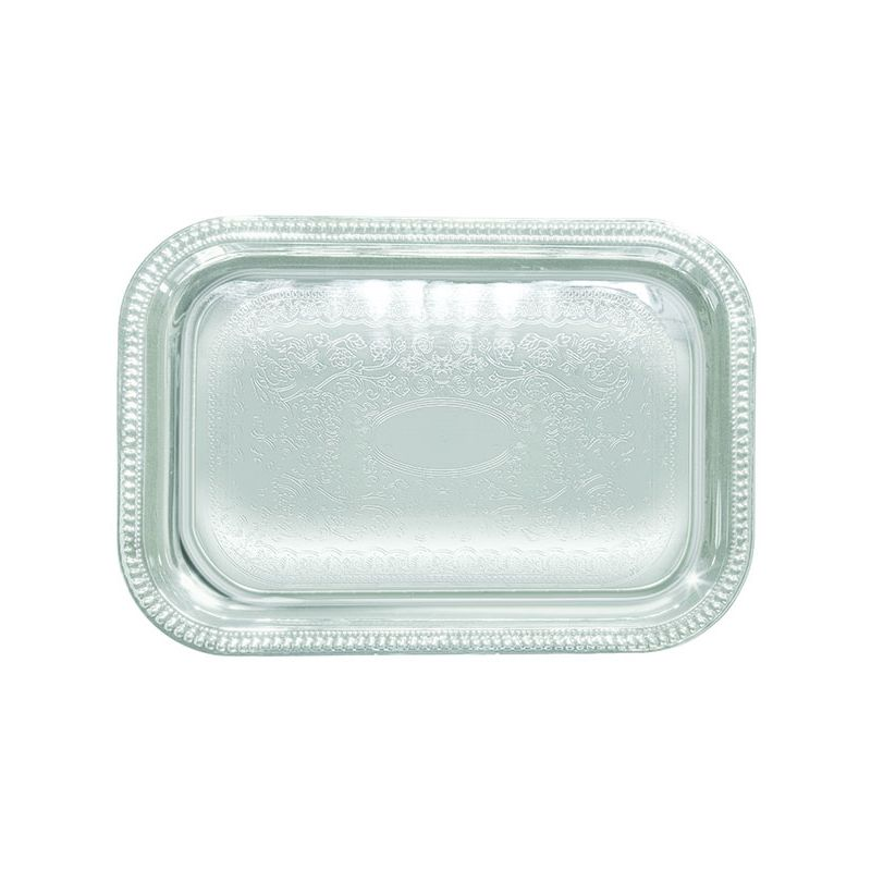 Serving Tray, Oblong 18 inches, Chrome Plated