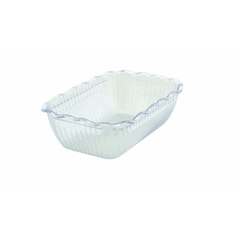 Deli Crock, 10 inches x 7 inches x 3 inches, Clear